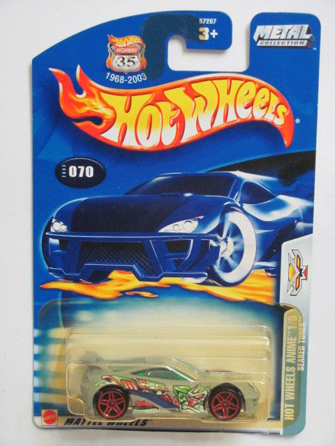 HOT WHEELS 2003 HOT WHEELS ANIME 1/5 SEARED TUNER #070 MIB