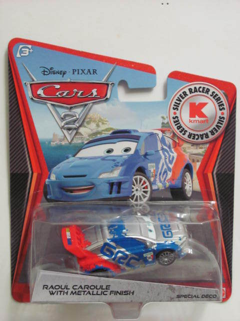 DISNEY PIXAR CARS 2 - KMART EXCLUSIVE RAOUL CAROULE WITH METALLIC FINISH