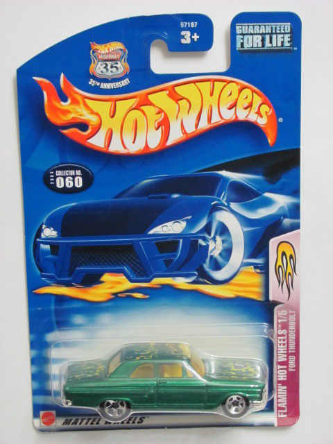 HOT WHEELS 2003 FLAMIN' HOT WHEELS 1/5 FORD THUNDERBOLT #060
