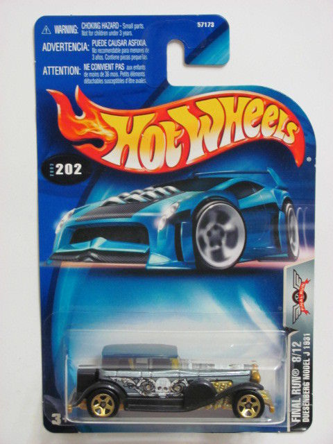 HOT WHEELS 2003 FINAL RUN 8/12 DUESENBERG MODEL J 1931 #202