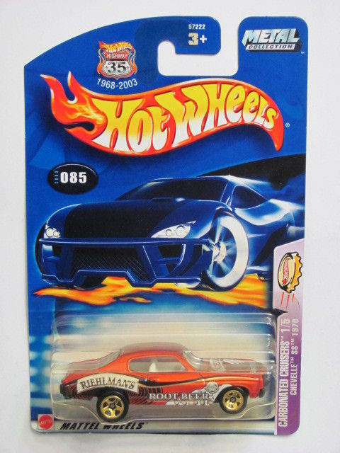 HOT WHEELS 2003 CARBONATED CRUISERS 1/5 CHEVELLE SS 1970 #085