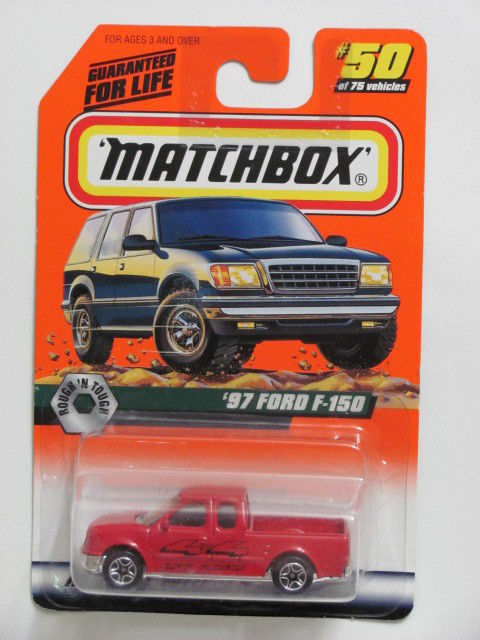 MATCHBOX 1998 #50 OF 100 '97 FORD F-150 ROUGH'N TOUGH RED