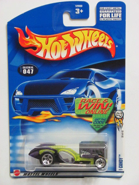 HOT WHEELS 2002 I CANDY # 047 PURPLE W/ CLEAR WINDOWS