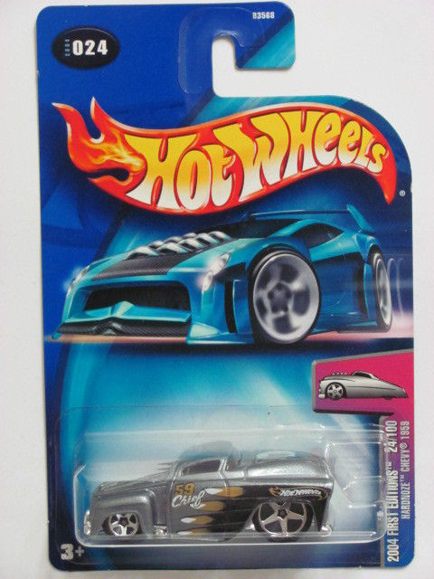 HOT WHEELS 2004 FIRST EDITIONS 24/100 HARDNOZE CHEVY 1959