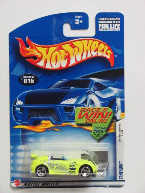 HOT WHEELS 2002 FIRST EDITIONS TANTRUM #015 W/ 3 SP WHEELS