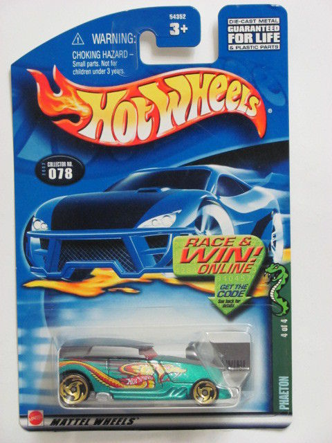 HOT WHEELS 2002 PHAETON #078 GREEN