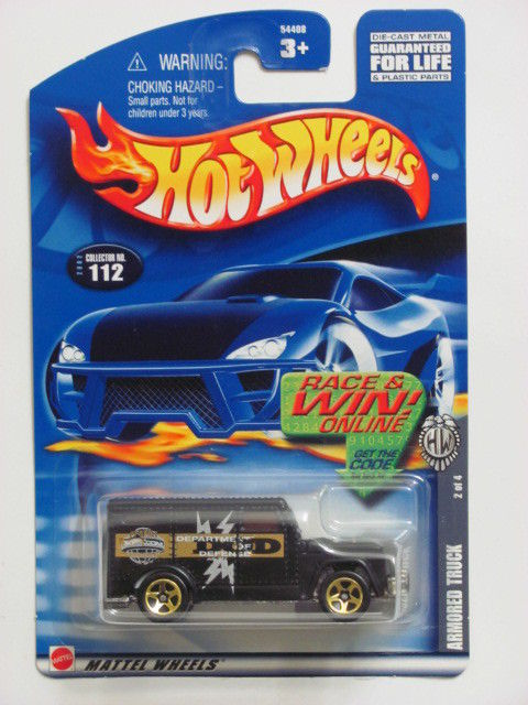 HOT WHEELS 2002 ARMORED TRUCK BLACK #112