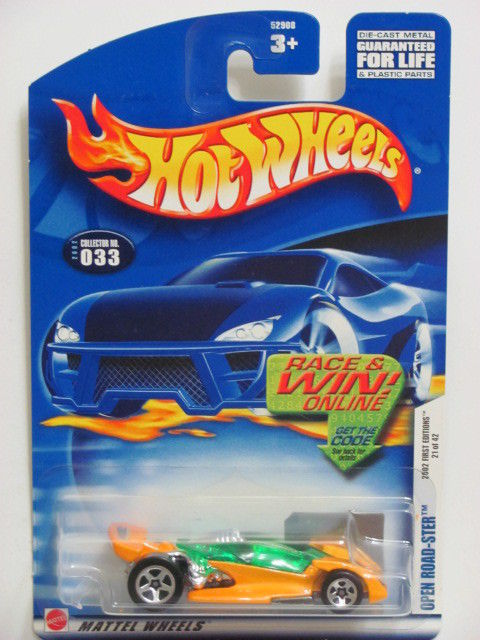 HOT WHEELS 2002 FIRST EDITIONS OPEN ROAD-STER #033 W/ 5 SP