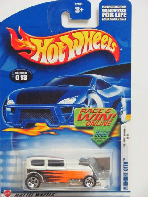 HOT WHEELS 2002 FIRST EDITIONS MIDNIGHT OTTO #013 W/ 5 SP
