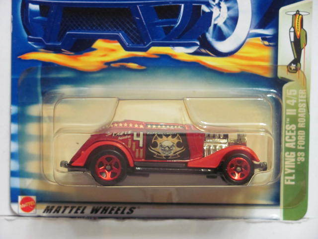 HOT WHEELS 2003 FLYING ACES II 4/5 '33 FORD ROADSTER #078 RED