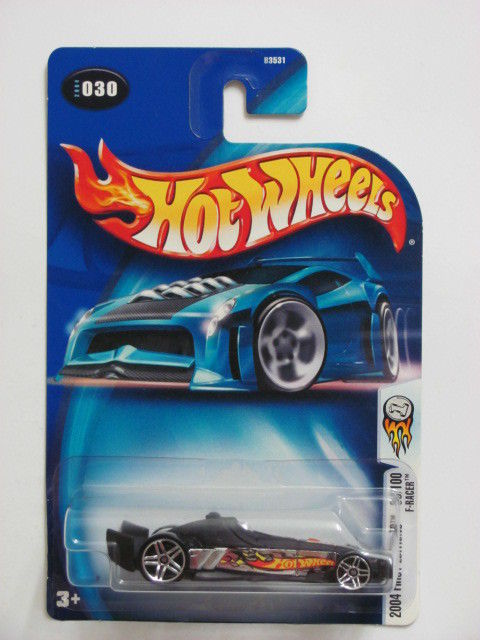 HOT WHEELS 2004 FIRST EDITIONS #030 F-RACER 30/100 BLACK BASE