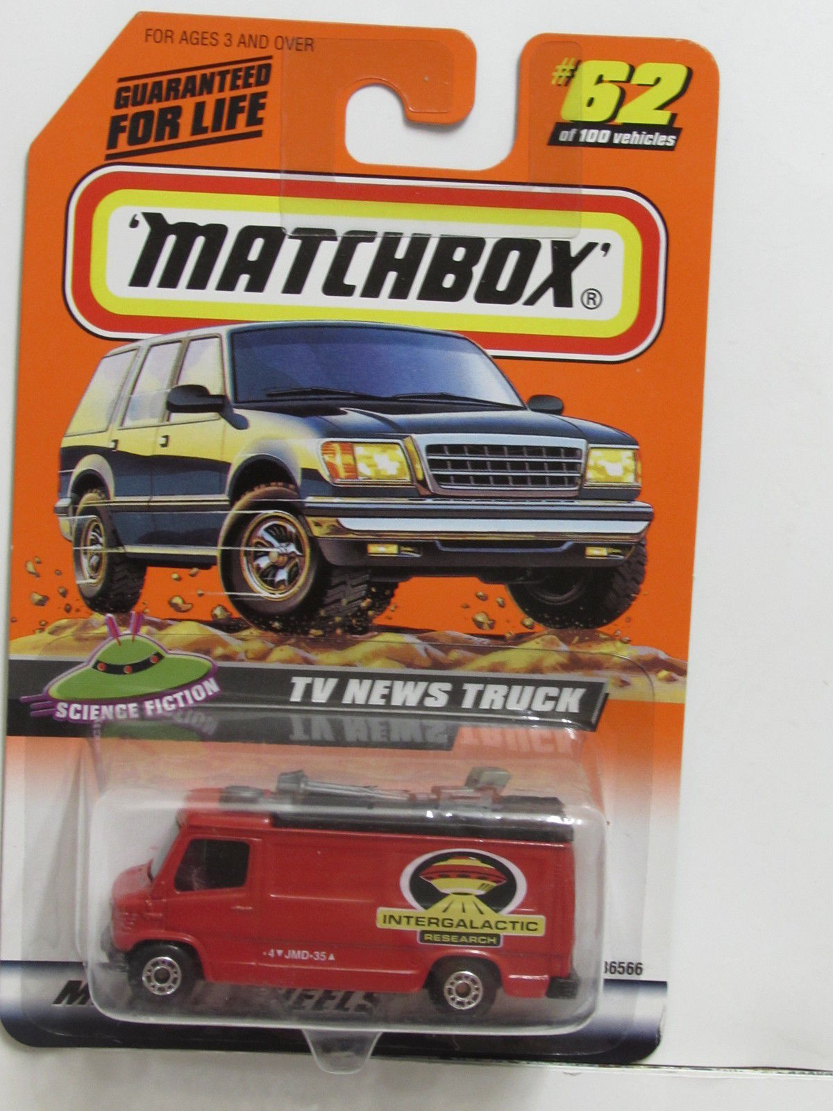 MATCHBOX 1999 #62 OF 100 TV NEWS TRUCK SCIENCE FICTION