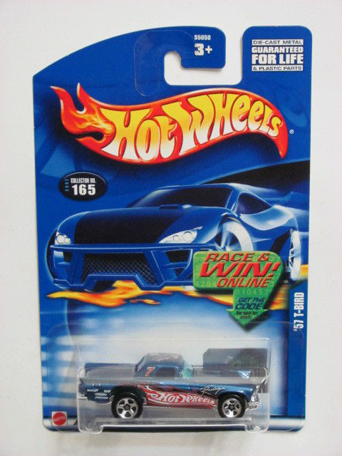 HOT WHEELS 2002 '57 T-BIRD #165 BLUE E+