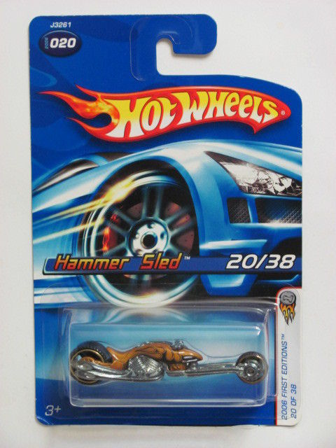 HOT WHEELS 2006 FIRST EDITIONS HAMMER SLED #020 GOLD