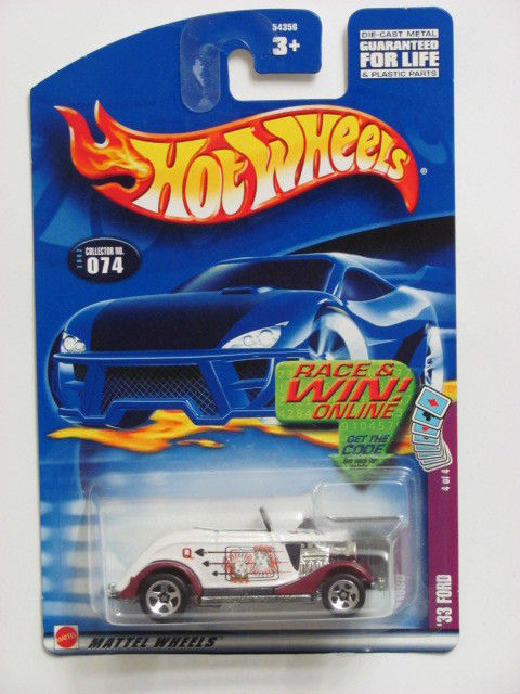 HOT WHEELS 2002 '33 FORD #074 WHITE
