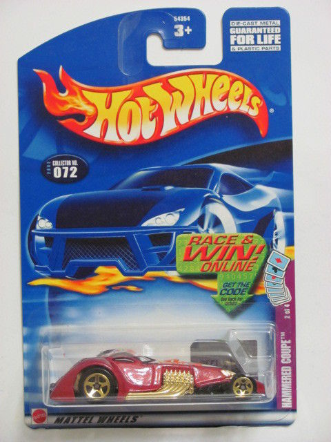 HOT WHEELS 2002 HAMMERED COUPE #072 RED