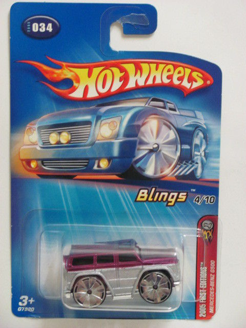 HOT WHEELS 2005 FIRST EDITIONS BLINGS MERCEDES-BENZ G500 #034