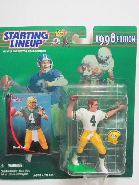 STARTING LINEUP 1997 EDITION BRETT FAVRE FIGURE AGES 4-104