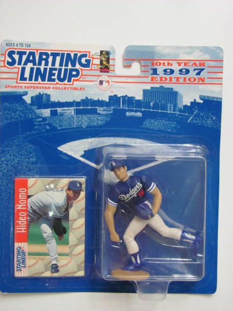 STARTING LINEUP 1997 EDITION HIDEO NOMO FIGURE AGES 4-104