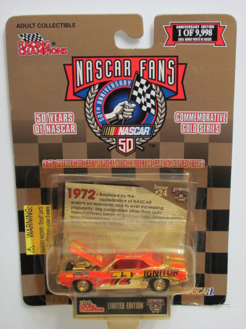 RACING CHAMPIONS NASCAR 50TH ANN. GOLD ISSUE #24 '70 PLYMOUTH BARRACUDA GOLD