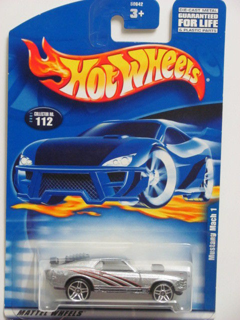 HOT WHEELS 2001 MUSTANG MACH 1 COLLECT. #112 SILVER