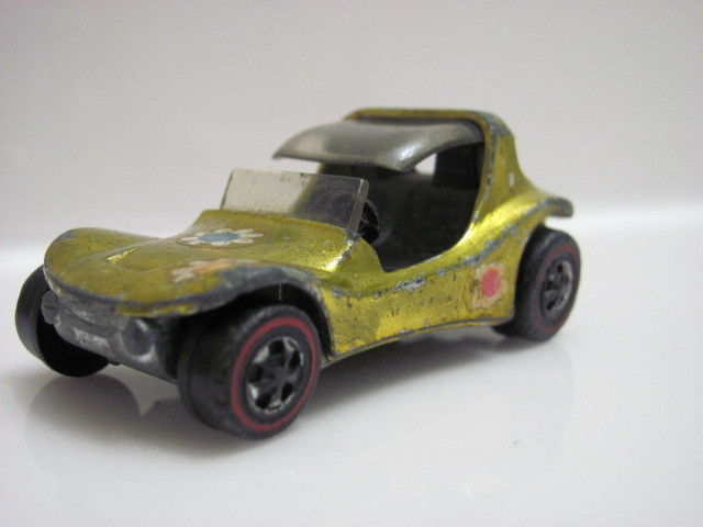 VINTAGE HOT WHEELS RED LINE 1969 SAND CRAB LIME/YELLOW