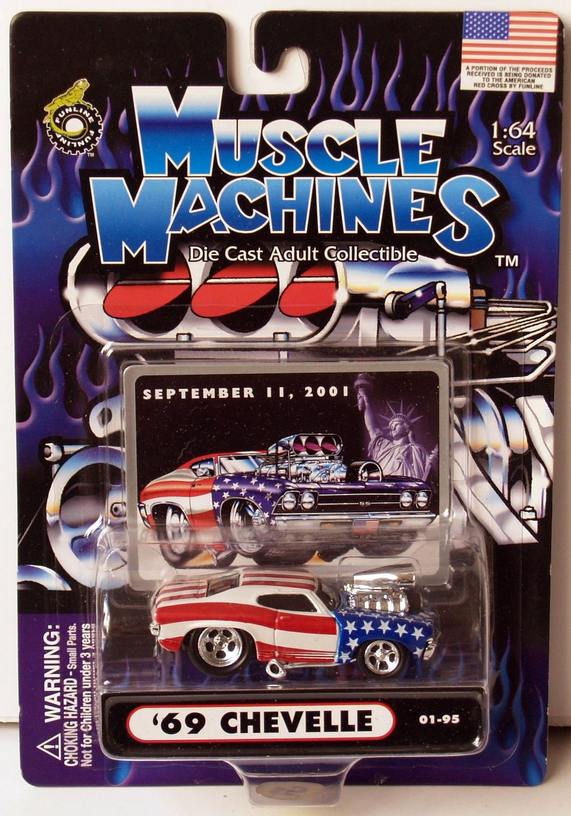 MUSCLE MACHINES SCALE 1:64 SEPTEMBER 11 2001 - '69 CHEVELLE