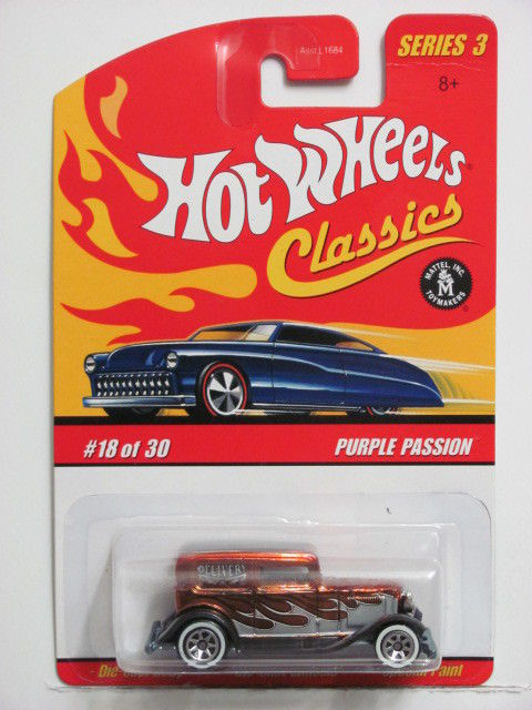 HOT WHEELS CLASSICS SERIES 3 '32 FORD DELIVERY (PURPLE PASSION) CARD ERROR