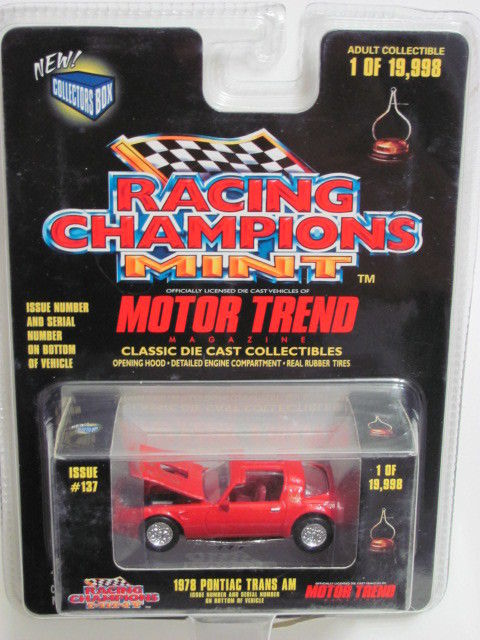 RACING CHAMPIONS MINT MOTOR TREND 1978 PONTIAC TRANS AM #137 RED SC 1:64 E+