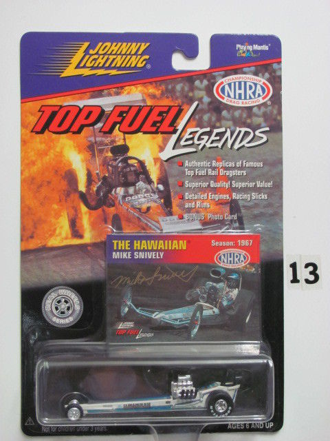 JOHNNY LIGHTNING TOP FUEL LEGENDS THE HAWAIIAN MIKE SNIVELY SEASON 1967