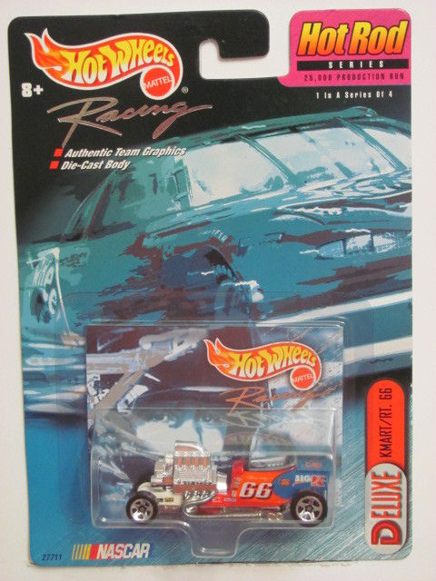 HOT WHEELS RACING DELUXE KMART/RT. 66 HOT ROD SERIES NASCAR