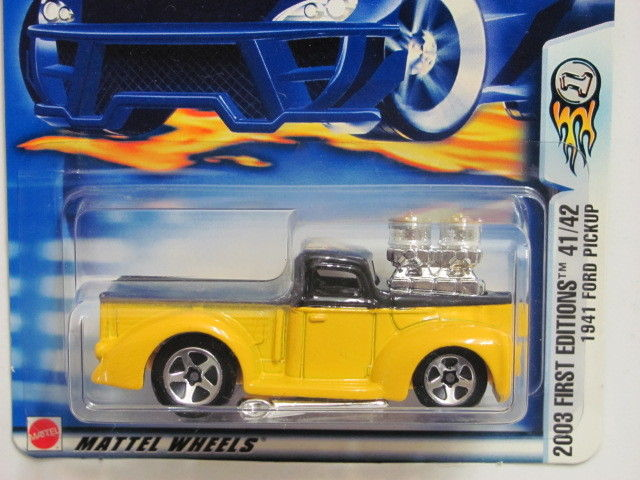 HOT WHEELS 2003 FIRST EDITIONS 1941 FORD PICKUP TRUCK WHEELS ERROR