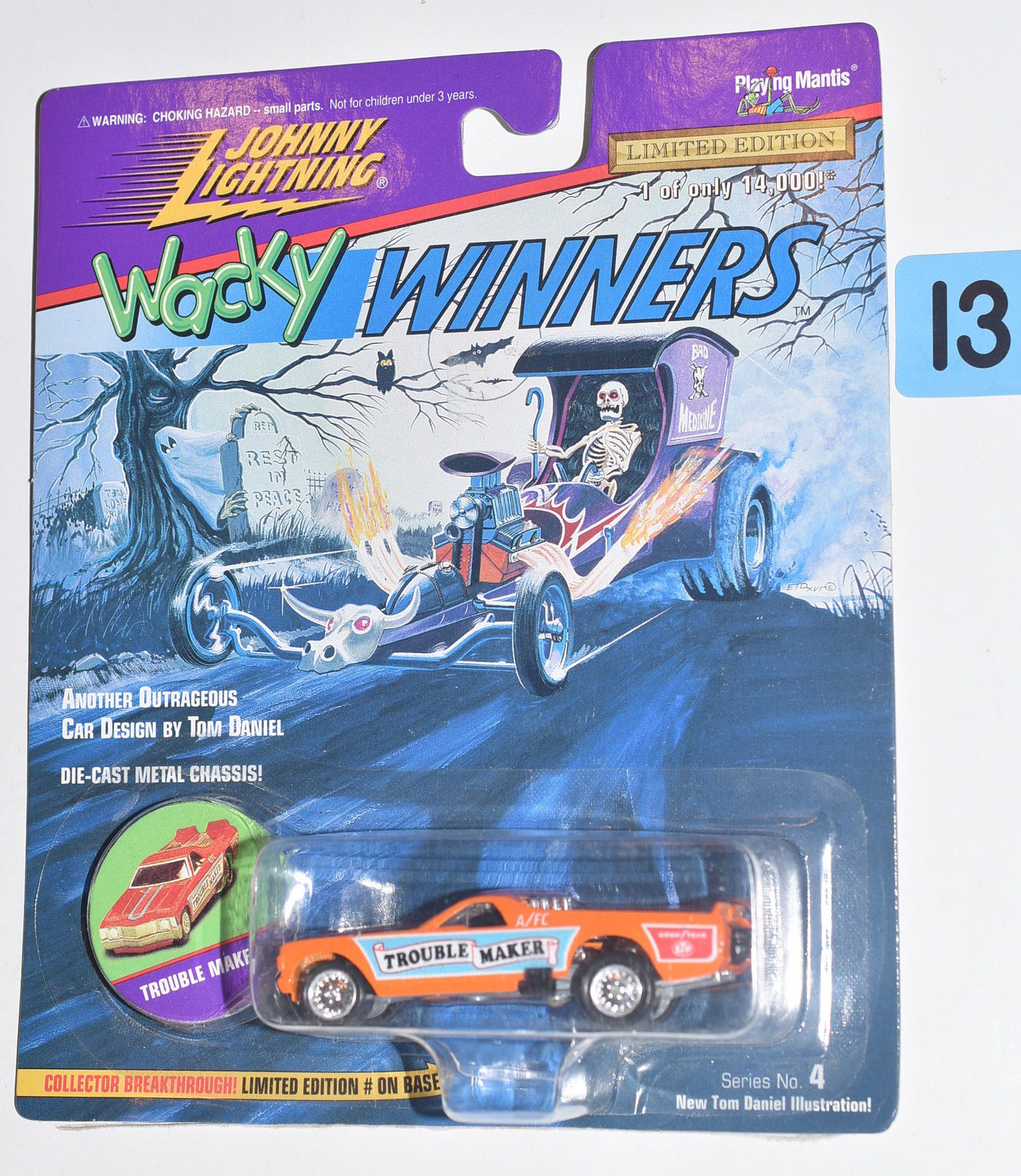 JOHNNY LIGHTNING WACKY WINNERS SERIES 4 TROUBLE MAKER ORANGE