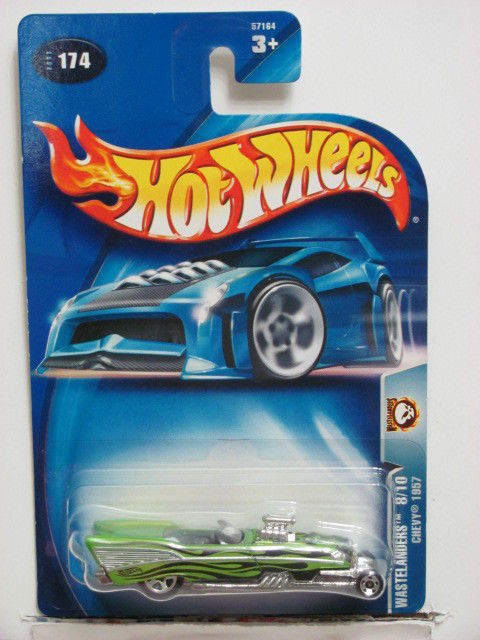 HOT WHEELS 2003 WASTELANDERS 8/10 CHEVY 1957 GREEN #174