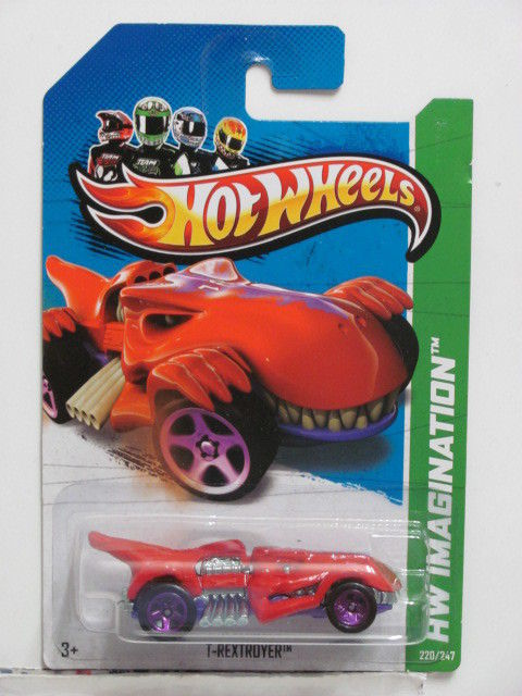 HOT WHEELS 2013 T-REXTROVER THRILL RACERS - PREHISTORIC '12 HW IMAGINATION