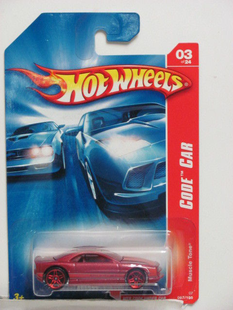 HOT WHEELS 2007 CODE CAR MUSCLE TONE #03/24 RED