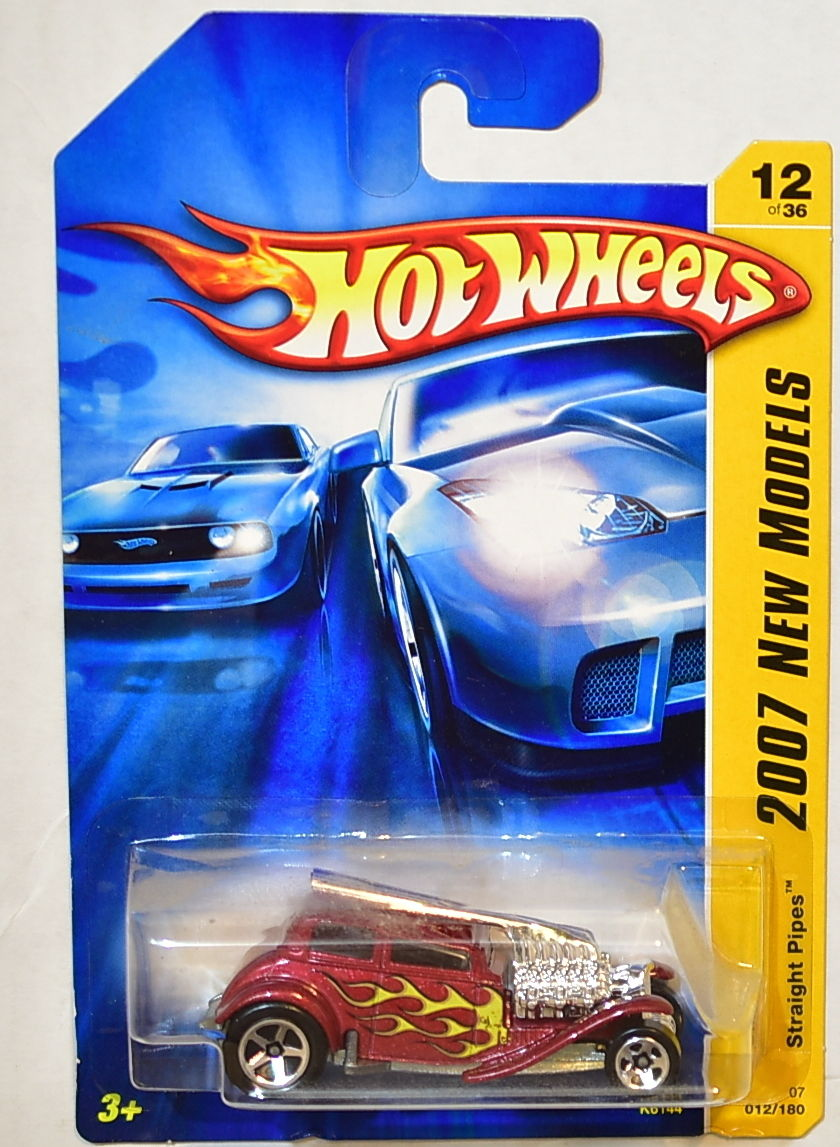 HOT WHEELS 2007 NEW MODELS STRAIGHT PIPES #12/36 RED
