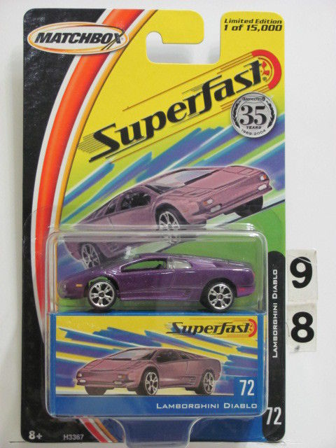 MATCHBOX 2004 35YRS SUPERFAST LAMBORGHINI DIABLO #72