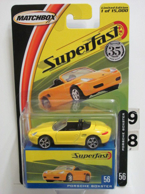 MATCHBOX 2004 35YRS SUPERFAST PORSCHE BOXSTER #56