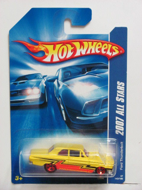 HOT WHEELS 2007 ALL STARS FORD THUNDERBOLT YELLOW