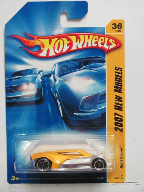 HOT WHEELS 2007 NEW MODELS SPLIT VISION #36/36 YELLOW