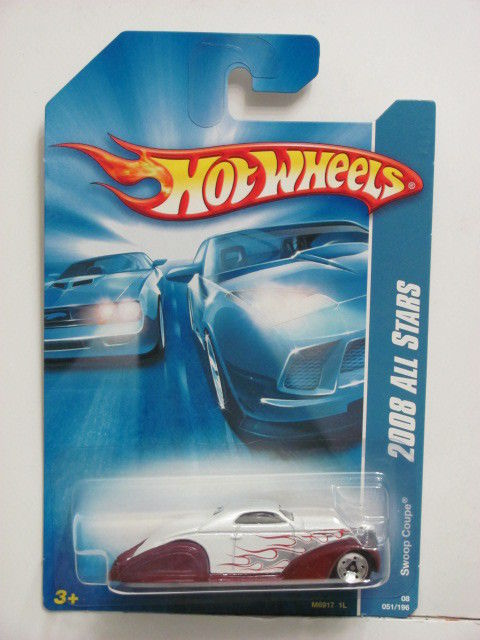 HOT WHEELS 2008 ALL STARS SWOOP COUPE WHITE