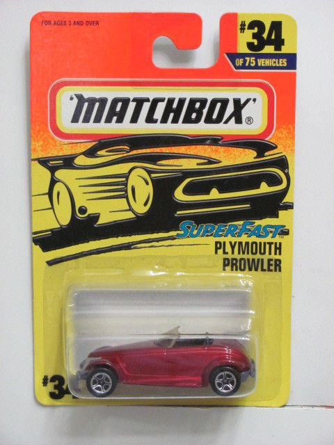 MATCHBOX 1997 SUPERFAST PLYMOUTH PROWLER #34 / 75 E+