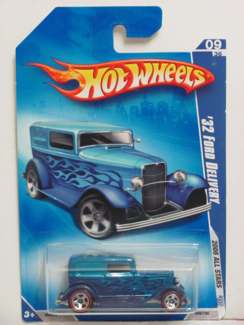 HOT WHEELS 2008 ALL STARS '32 FORD DELIVERY #09/36 BLUE