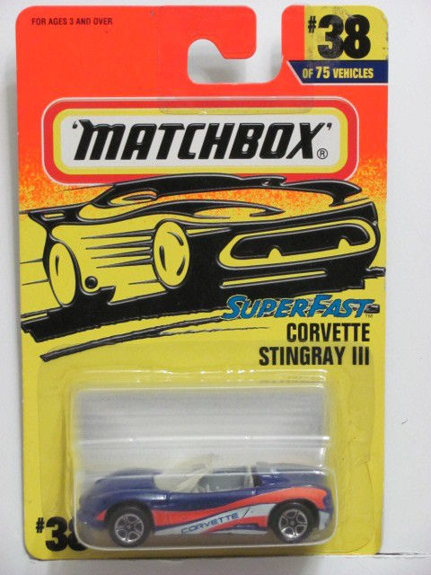 MATCHBOX 1997 SUPERFAST CORVETTE STINGRAY III #38/75