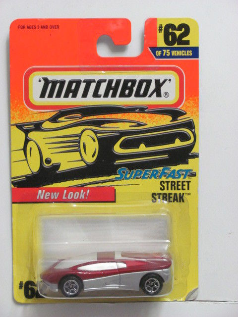 MATCHBOX 1997 #62 OF 75 STREET STREAK - SUPERFAST