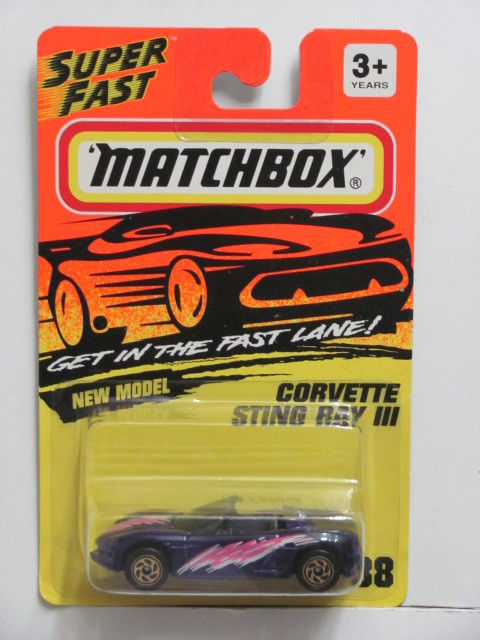 MATCHBOX 1993 CORVETTE STING RAY III #38 - SUPERFAST