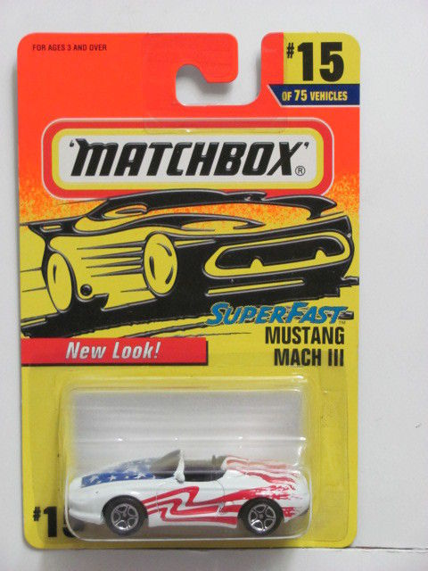 MATCHBOX 1997 SUPERFAST MUSTANG MACH III #15/75