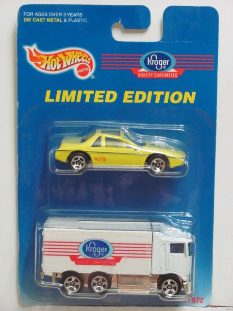 HOT WHEELS 1997 KROGER PONTIAC FIERO 2M4 - HIWAY HAULER 2 CAR PACK
