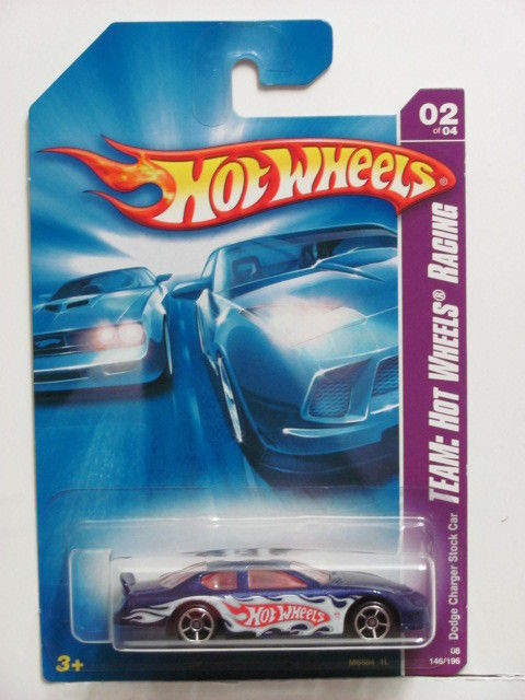 HOT WHEELS 2008 TEAM HW RACING DODGE CHARGER STOCK CAR BLUE